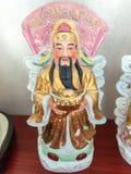 Bra förmögenhet för tre kinesiska lyckliga gudar Fu, Hok, välstånd Lu, Lok och livslängd Shou, Siu Arkivbild