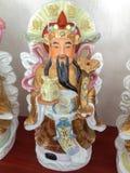 Bra förmögenhet för tre kinesiska lyckliga gudar Fu, Hok, välstånd Lu, Lok och livslängd Shou, Siu Royaltyfria Foton