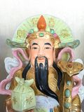 Bra förmögenhet för tre kinesiska lyckliga gudar Fu, Hok, välstånd Lu, Lok och livslängd Shou, Siu Arkivfoto