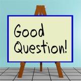Bra fråga! begrepp stock illustrationer