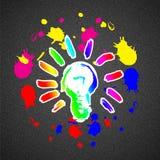 Bra idébakgrund för färgrik färgstänk Royaltyfri Foto