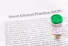 Bra klinisk övning. GCP. Arkivfoto