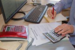 Bra kreditering för affärslån Affärslån vs personliga lån Royaltyfri Bild