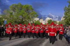 Bra lördag procession arkivbild