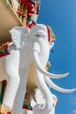 Bra lycka för elefant i Kanjanaburi Arkivbild
