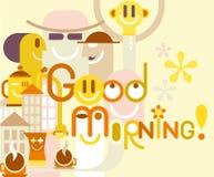 Bra morgon! Arkivbild