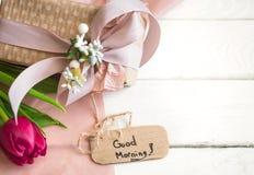Bra morgon för inskrift, Royaltyfri Bild