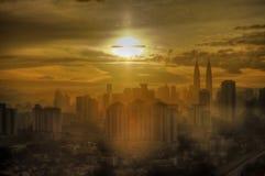 Bra morgon Kuala Lumpur. Arkivfoto