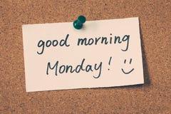 Bra morgon måndag Royaltyfria Bilder