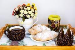Bra morgon med vaniljgiffel Royaltyfri Foto