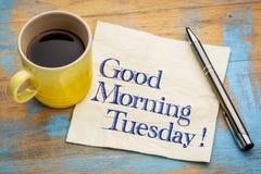Bra morgon tisdag arkivfoton