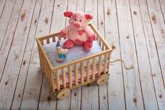 Bra natt med porky rosa färger Fotografering för Bildbyråer