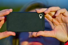 Brać obrazek telefon komórkowy Obrazy Stock