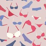 Bra and panties seamless pattern Royalty Free Stock Photos