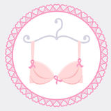 Bra with pink ribbon Royalty Free Stock Photo