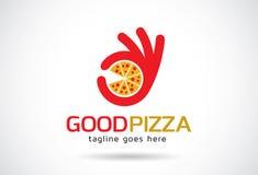 Bra pizza Logo Template Design Vector, emblem, designbegrepp, idérikt symbol, symbol Arkivbild