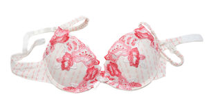 Bra with red pattern Stock Image