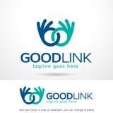 Bra sammanlänkning Logo Template Design Vector Fotografering för Bildbyråer