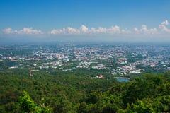 Bra sikt av den Chiang Mai staden Royaltyfri Foto