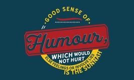 Bra sinne för humor, som inte gör ont andra känslor eller gäller lögner, är sunnahen stock illustrationer