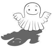 Bra spökebarns teckning stock illustrationer