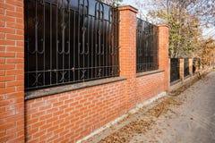 Bra staket gör bra grannar Arkivbilder