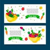 Bra uppsättning för matgrönsakbaner Arkivbild