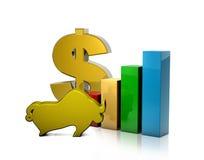 Bra vinst i högkonjunktur Arkivbild
