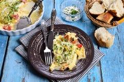 Braadpan met groenten stock foto
