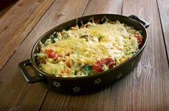 Braadpan van rijst, groenten Stock Fotografie