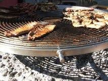 Braadstuk bij de grill Royalty-vrije Stock Foto