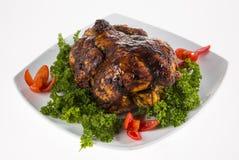 Braadstuk gehele kip Stock Foto
