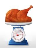 Braadstuk Turkije, kip op schaalpan vector illustratie