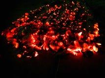 Braai-tiempo surafricano de los Caliente-carbones del fuego de Braai del estilo imagenes de archivo