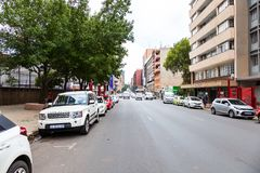 Braamfontein在市约翰内斯堡 库存照片