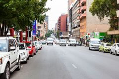 Braamfontein在市约翰内斯堡 免版税库存照片