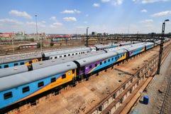 Braamfontein järnväg gårdar, Johannesburg arkivbilder