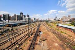 Braamfontein Kolejowi jardy, Johannesburg zdjęcia stock