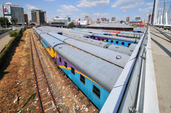 Braamfontein Kolejowi jardy, Johannesburg fotografia royalty free
