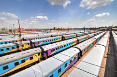 Braamfontein Kolejowi jardy, Johannesburg fotografia stock