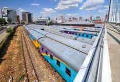 Braamfontein Kolejowi jardy, Johannesburg obrazy stock