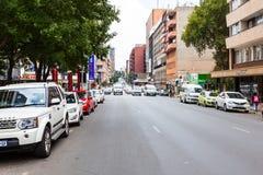 Braamfontein na cidade de Joanesburgo imagens de stock
