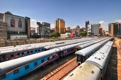 Braamfontein Railway Yards, Johannesburg Stock Images