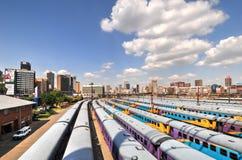 Braamfontein Railway Yards, Johannesburg royalty free stock photo