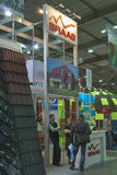 BRAAS Germany natural ceramic tiles company booth Stock Image