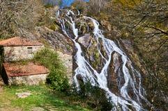 Brañas waterfall. Toques. A Coruña. Galicia Stock Photos
