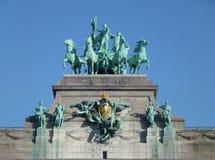 Brabant avec quatre chevaux Photos libres de droits