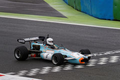 Brabham F2 crosses the line Royalty Free Stock Image