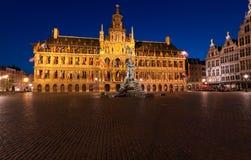 Brabo Brunnen, Antwerpen Stockfotografie