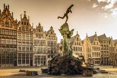 Brabofontein in Antwerpen, België royalty-vrije stock afbeelding